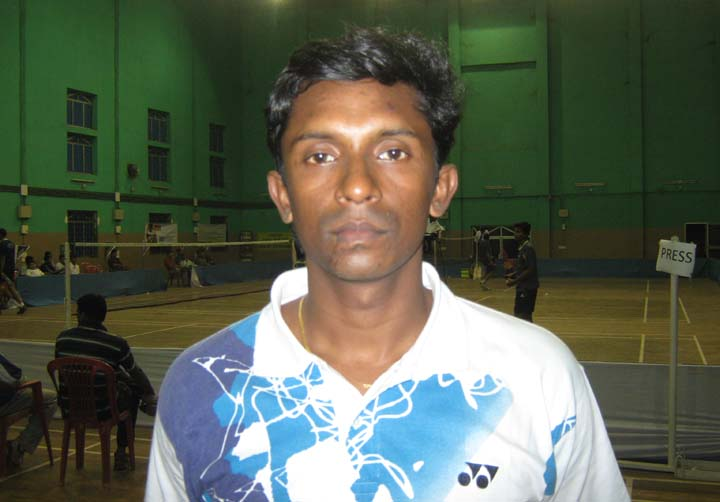 Orissa shuttler D Shubhakanta Mohanty in Bhubaneswar on <b>December 11, 2009.