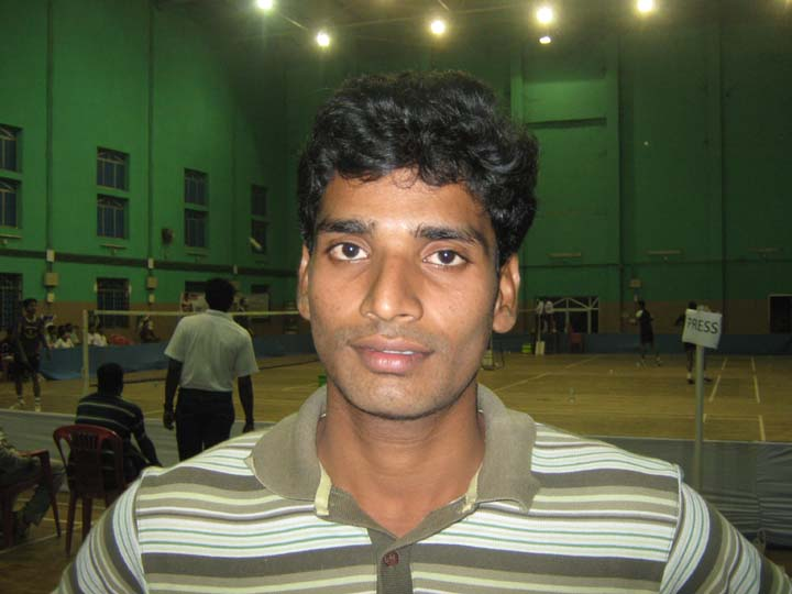 Orissa shuttler S Appa Rao in Bhubaneswar on <b>December 11, 2009.