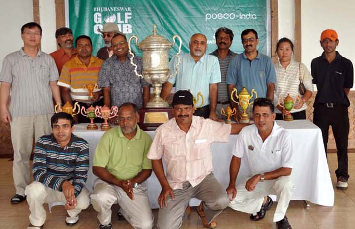 Prize winners of the 5th BGC Corporate Golf Tournament in Bhubaneswar on <b>Dec 13, 2009.