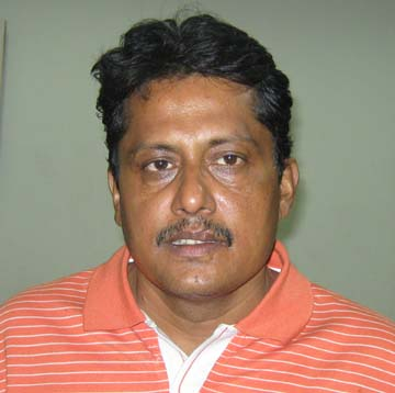 Orissa cricketer <b>Bishnudeb Mohanty </b>in Cuttack on <b>Dec 20, 2009.