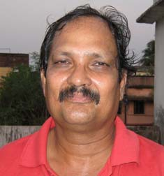 Former Orissa junior hockey captain R N Sasmal in Bhubaneswar on April 11, 2010.