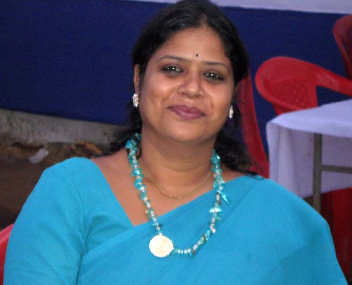 Television sports journalist Samikshya Patnaik in Bhubaneswar in November, 2009.