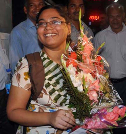 Kiran Manisha Mohanty feels happy after becoming Orissa`s first WGM on March 14, 2010.