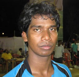 Hocky international Belsajar Horo in Bhubaneswar on May 2, 2010.