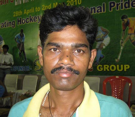 Former Orissa hockey captain Surendra Barla in Bhubaneswar on May 2, 2010.
