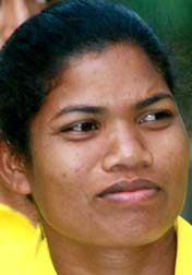 File photo of woman hockey international Subhadra Pradhan.