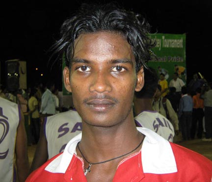 Orissa hockey player Sanjit Kujur in Bhubaneswar on May 2, 2010.