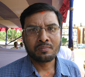 Sports reporter Sudipta Swain in Cuttack on April 24, 2010.