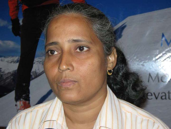 Mount Everest conqueror Kalpana Dash in Bhubaneswar on May 12, 2010.