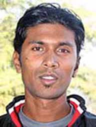 File photo of Orissa left-arm spinner Dhiraj Kumar Singh.