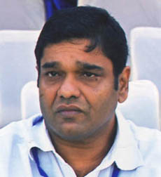 File photo of Football Association of Orissa president Debashis Samantaray.