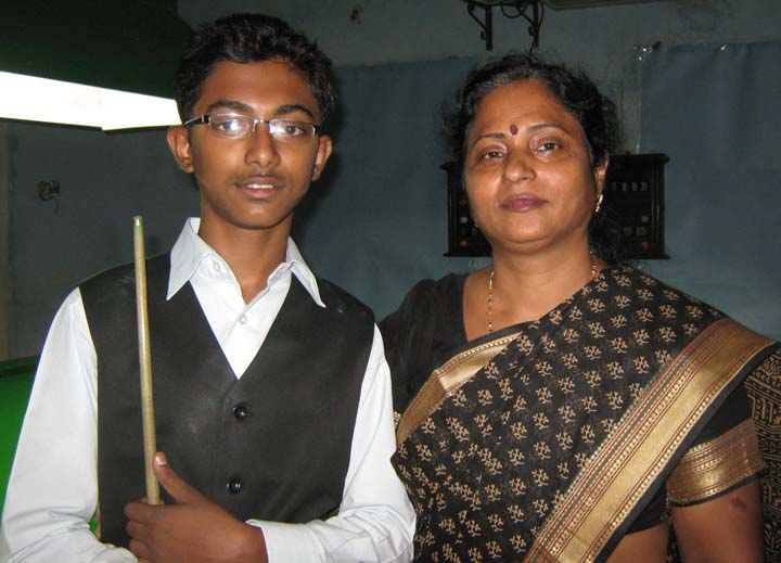 Cueist Ashutosh Padhy with his mother and former Minister Surama Padhy in Bhubaneswar on July 3, 2010.