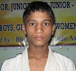 Orissa judoka Vikash Verma in Bhubaneswar on July 4, 2010.