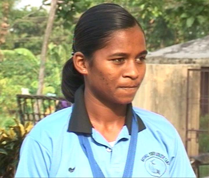File photo of Orissa woman hurdler Jauna Murmu.