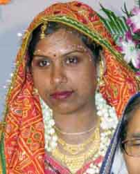 Orissa international woman rower Mamata Jena on the occasion of her marriage on May 16, 2010.