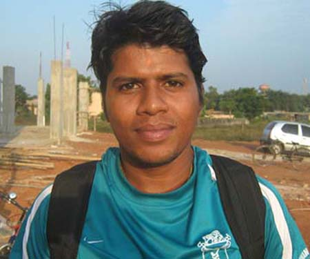 File photo of Orissa cricketer Subit Biswal at Bhubaneswar in 2010.