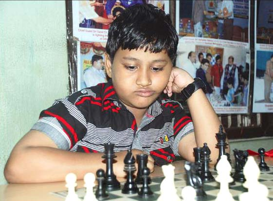 File photo of Orissa chess player Soumein Rajdev