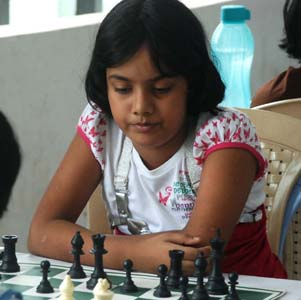 File photo of Orissa chess player Saina Salonika