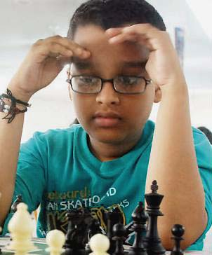 Orissa chess players Ansuman Samal in Bhubaneswar on August 10, 2011.
