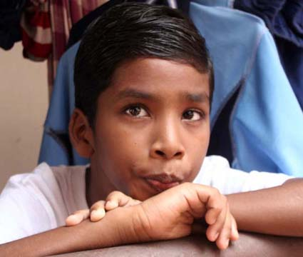 Child runner Budhia Singh in Bhubaneswar on July 30, 2011.
