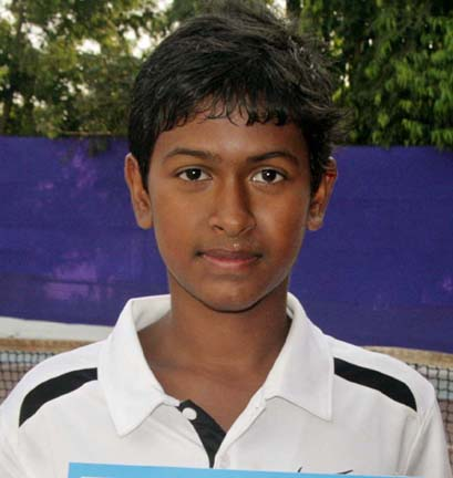 Odisha player Avilash Mishra with an AITA Talent Series title in Bhubaneswar on Nov 10, 2011.