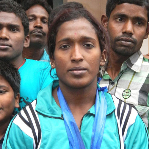 Odisha lifter Seeta Jena at the Senior National Championship in Berhampur on Dec 27, 2011.
