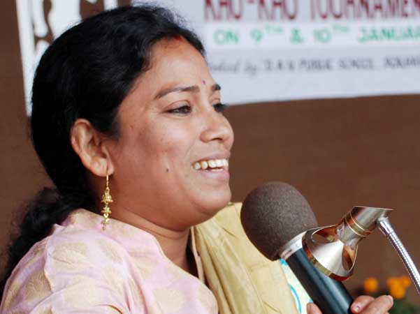 Odisha woman footballer Gitanjali Samantaray in Bhubaneswar on January 9, 2012.