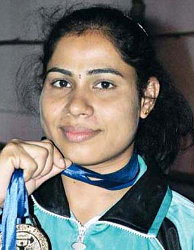 File photo Odisha woman weightlifter Minathi Sethi.