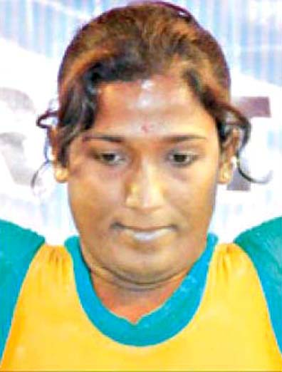 File photo Odisha woman weightlifter Seeta Jena.
