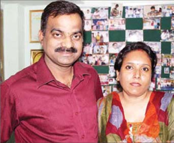 Chess player-turned-coach Satya Ranjan Patnaik with wife Smrutirekah Mohanty