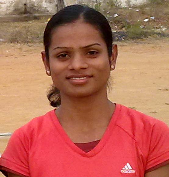 Odisha sprinter Dutee Chand in Bargarh on May 25, 2012.