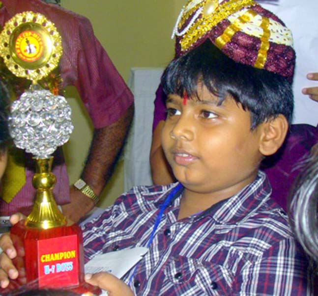Odisha chess player Rishabh Anand in Cuttack on June 11, 2012.