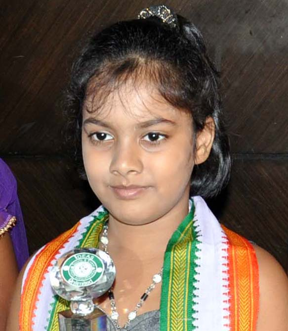 Odisha chess player Saina Salonika in Bhubaneswar on June 7, 2012.