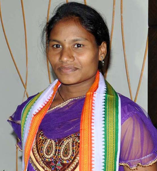 Odisha woman lifter Pramila Kirsani in Bhubaneswar on June 7, 2012.