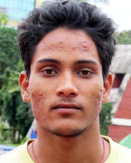Odisha athlete Asman Sahu in Kolkata on September 4, 2012.