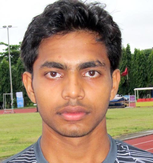 Odisha athlete Jambeswar Panda in Kolkata on September 4, 2012.
