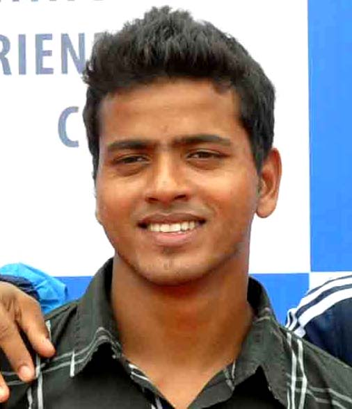 Odisha footballer Sheikh Mustakim in Bhubaneswar on Sept 8, 2012.