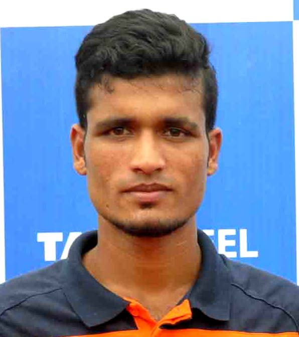 Odisha footballer Pankaj Suna in Bhubaneswar on Sept 8, 2012.