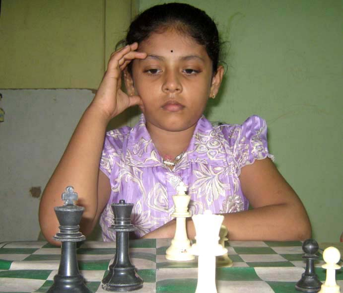 Odisha chess player Rutumbara Bidhar in Bhubaneswar on Oct 18, 2010.
