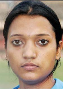 File photo of Odisha woman football player turned coach Sarita Jayanti Behera.