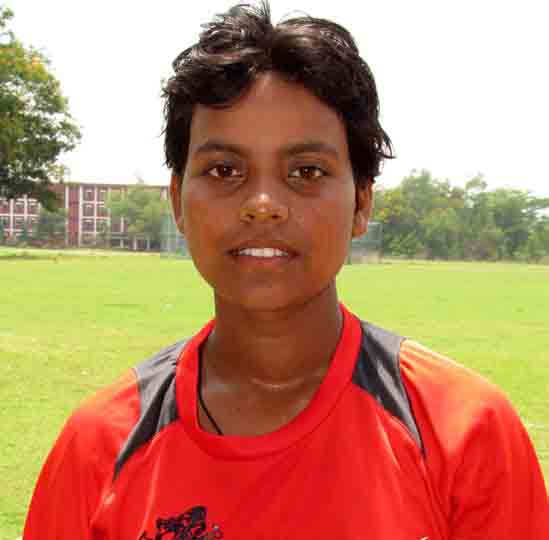 Odisha woman cricketer Pragyan Paramita Mohanty in Cuttack on April 29, 2013.
