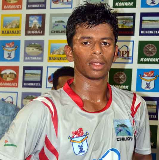 Odisha cricketer Subhranshu Senapati in Cuttack on May 9, 2013.