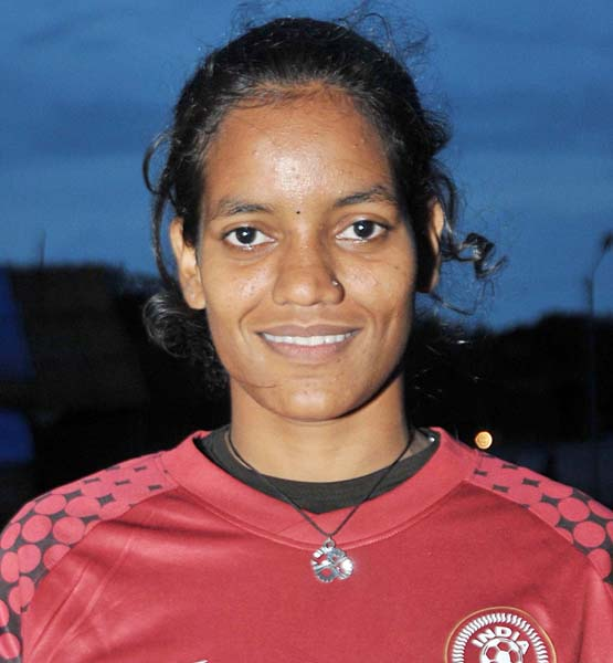 Odisha woman footballer Tikina Samal in Bhubaneswar on September 8, 2013.