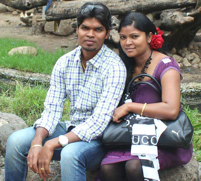 Odisha hockey star Prabodh Tirkey with wife Sweta