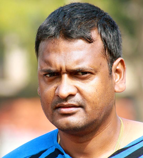 Odisha Test cricketer Debasis Mohanty in Bhubaneswar on January 11, 2014.