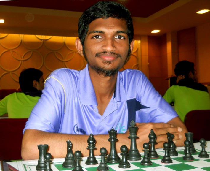 Odisha chess player Mohammad Ashraf at the East Zone Inter-University Chess Championship in Bhubaneswar on Sept 29, 2014.