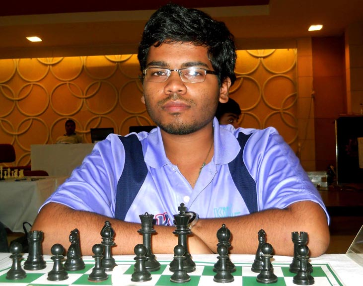 Odisha chess player Utkal Ranjan Sahoo at the East Zone Inter-University Chess Championship in Bhubaneswar on Sept 29, 2014.