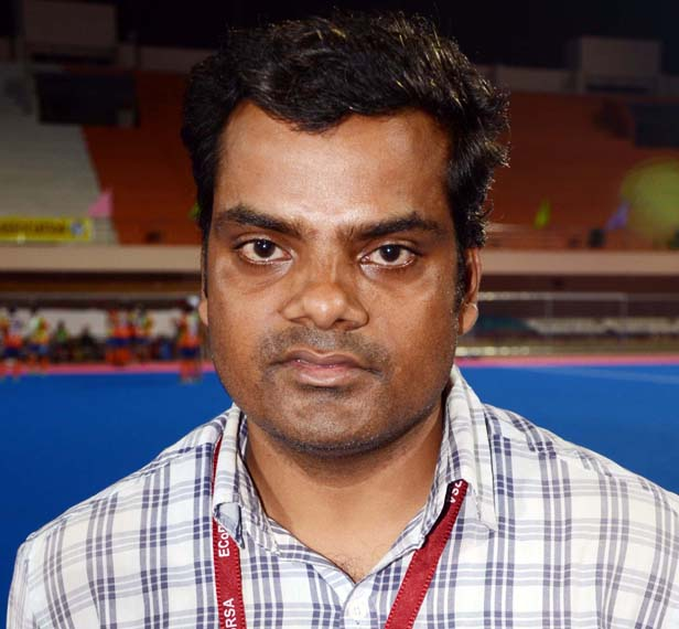Odisha gymnast Suvendu Patra at Kalinga Stadium in Bhubaneswar on March 13, 2015.