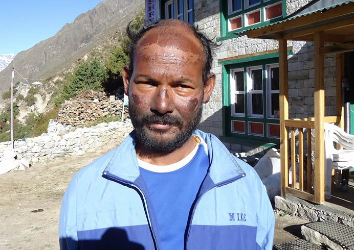 Odisha mountaineer Ganesh Jena afer his successful scaling of Mt Everest on May 24, 2011.