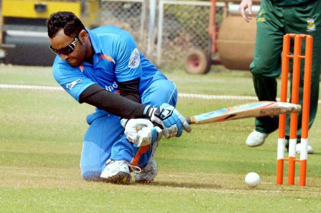 Action photo of Odisha blind cricket star Mohammad Jafar Iqbal.